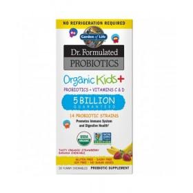 Organická probiotika pro děti - jahoda a banán, 30 žvýkacích (cucacích) tablet