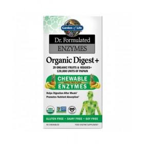 Organické Enzymy na podporu trávení, 90 tablet