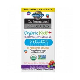 Organická probiotika pro děti - lesní ovoce a třešně, 30 žvýkacích (cucacích) tablet