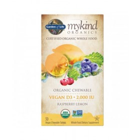 Vitamín D3 2000 UI, 30 žvýkacích tablet-malina a citrón