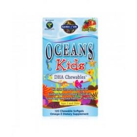 DHA omega-3 pro děti, 120 tobolek -lesní ovoce+limetka